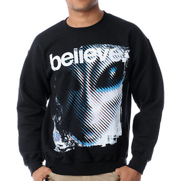 Alien Workshop Believe Black Crew Neck Sweatshirt at Zumiez : PDP