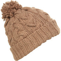 Blush Cable Plait Hat - Winter Accessories - Accessories - Topshop USA