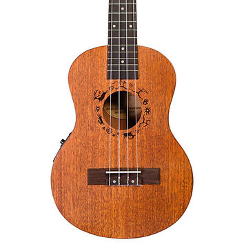 Flight DUT 34 CEQ Tenor Acoustic-Electric Ukulele Natural | Guitar Center