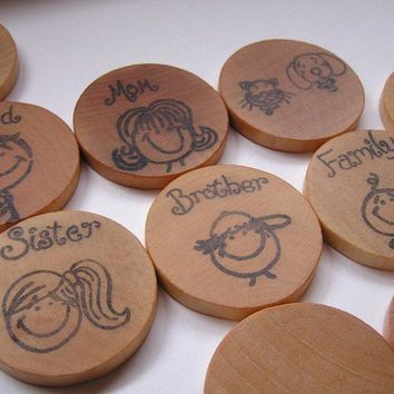 Make your Family into a game My Family Wooden Memory by applenamos