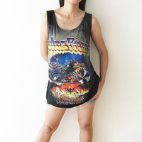 Judas Priest Shirt Tank Top T Shirts Size L