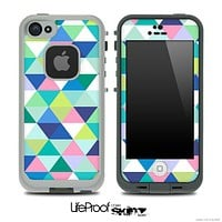 Triangular V3 Fun Color Pattern Skin for the iPhone 5 or 4/4s LifeProof Case