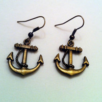Craft to the Radio | Anchor Earrings | Online Store Powered by Storenvy