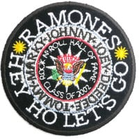 "RAMONES Hey Ho Lets Go Sew On Embroidered Patch 3""/7.6cm"