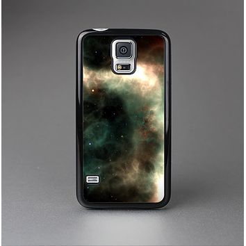 The Dark Green Glowing Universe Skin-Sert Case for the Samsung Galaxy S5