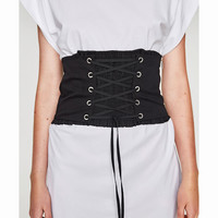 CORSET WITH CORD AND ELASTIC