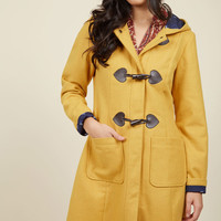 Theater Greetings Coat in Saffron | Mod Retro Vintage Coats | ModCloth.com