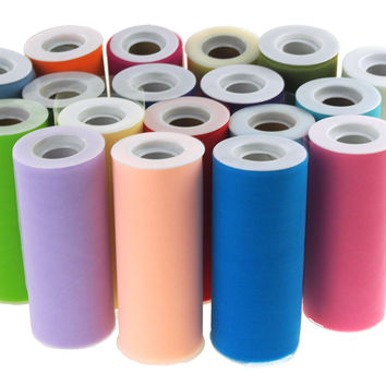 Tulle Spool Roll Fabric Net, 6-Inch, 25 Yards