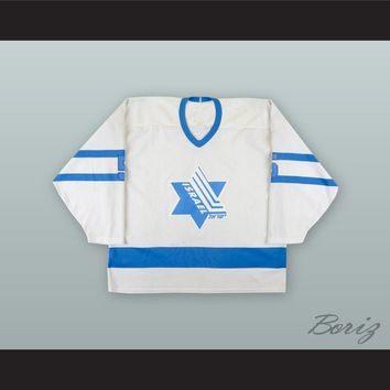 Israel National Team White Hockey Jersey