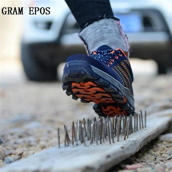 GRAM EPOS 2017 Men Boots Work Safety Shoes Steel Toe Cap For Anti-Smashing Puncture Proof Durable Breathable Protective Footwear
