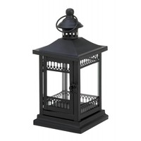 Simply Black Garden Candle Lantern