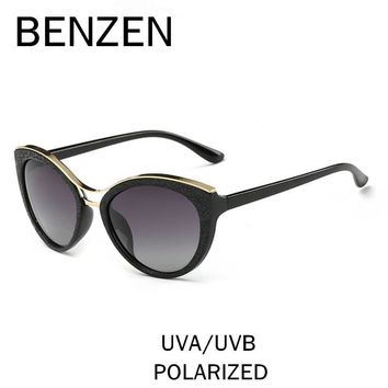 BENZEN Cat Eye Sunglasses Women Polarized Female Sun Glasses Vintage Ladies Shades  Glasses For Driving With Original Case 6333