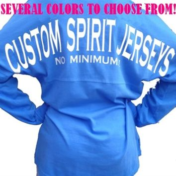 Custom Personalized Spirit Pom Pom Jersey Pullover Game Day