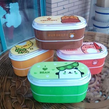 Lunch Box Healthy Plastic 600ml