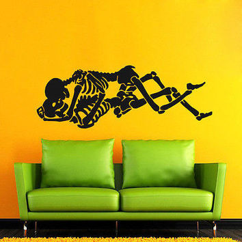 SKELETON WALL DECALS TWO IN LOVE DECAL VINYL STICKER HOME DECOR ART MURALS  N245