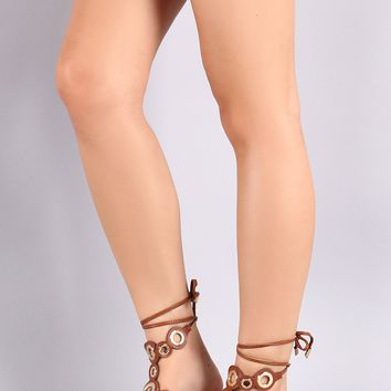 Liliana Grommet Lace Up Gladiator Sandal