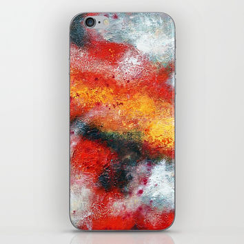 Clouded Red iPhone Skin by mariameesterart
