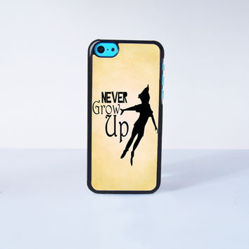 Peter Pan Never Grow Up Plastic Case Cover for Apple iPhone 5C 6 Plus 6 5S 5 4 4s