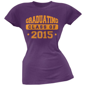 Graduating Class of 2015 Purple Juniors Soft T-Shirt