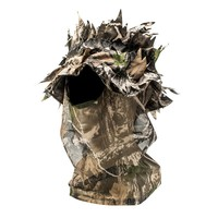 QuietWear Leafy Camo One-Hole Open-Face Mask - Men, Size: One Size (Brown)