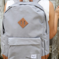 "Herschel - Heritage 15"" Laptop Backpack - Grey/Tan PU"