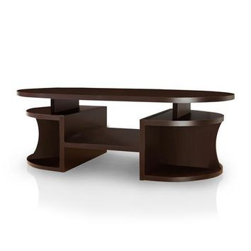 Lethan Contemporary Coffee Table in Walnut