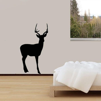 Deer Wall Decal Outdoors Large Deer Animal Vinyl Wall Art Home Decor Sticker