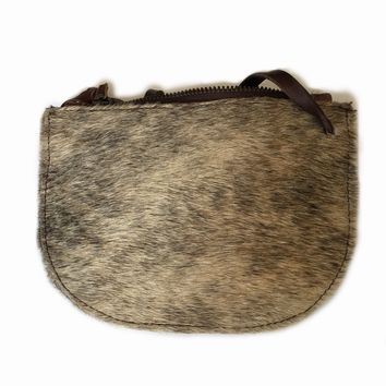 Ava Cowhide  Stadium Size Crossbody Handbag