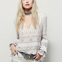 Free People Womens Changing Times Stripe Print Tunic