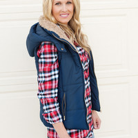 Andrea Flannel Shirt with Elbow Patches