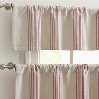 French Stripe Cafe Curtain