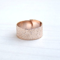 Rose Gold  Ring, Gold Ring, Engraved Floral Ring, Band Ring, Adjustable Ring,Christmas gift