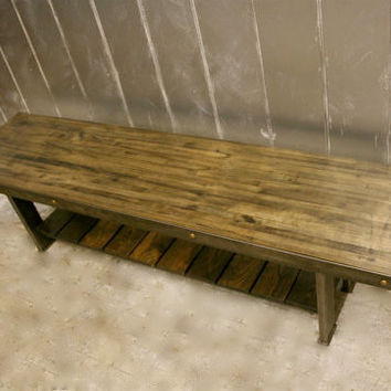 COFFEE TABLE: Made to Order - Recycled Steel and Reclaimed Bowling Alley