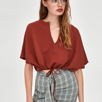STRUCTURED DRAWSTRING TOPDETAILS