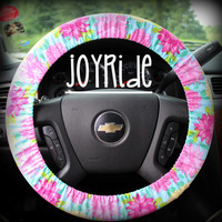 Steering Wheel Cover Vintage Rose Tiffany Tropical