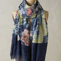 Miko Scarf by Anthropologie in Blue Size: One Size Scarves