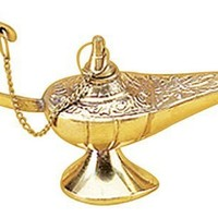 "Deco 79 09111 Brass Aladdin Lamp, 5""L"