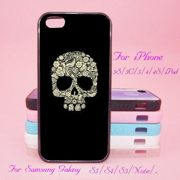 Skeleton,Flower,Touch 5,iPad 2/3/4,iPad mini,iPad Air,iPhone 5s/ 5c / 5 /4S/4 , Galaxy S3/S4/S5/S3 mini/S4 mini/S4 active/Note