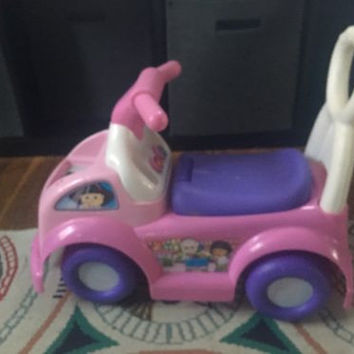 Pink Ride On Toy With Storage Seat, Fisher Price