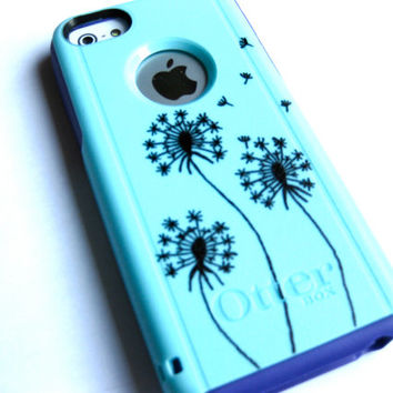 OTTERBOX iphone 5c case, case cover iphone 5c otterbox ,iphone 5c otterbox case,custom otterbox iPhone 5c, otterbox, dandelion otterbox case