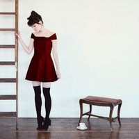 READY To SHIP The Catherine Dress MERLOT 246 by alexandragrecco