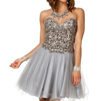 Pre-Order: Juliana Gray Prom Dress