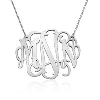 XXL Statement Monogram Necklace - 2 Inches - Custom Made with Any Initials!