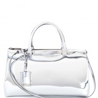 JIL METALLIC-LEATHER TOTE