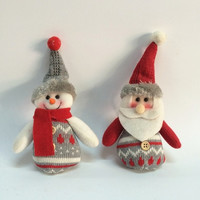 New Year Christmas Decoration Supplies Gift Snowman /Santa Claus Pendant Christmas Home Ornament = 1741732228