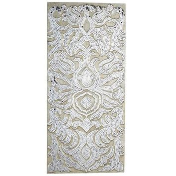 Champagne Mirrored Mosiac Damask Panel