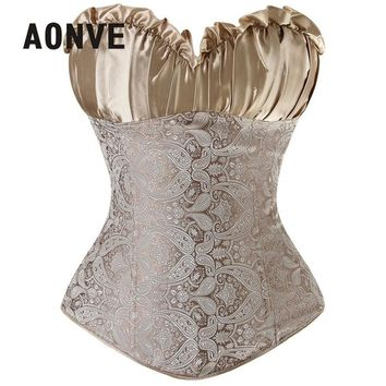 AONVE  Corset Sexy Steampunk Corsets And Bustiers Slimming Underwear Corsage Sexy Lingerie Wedding Lace Gothic Clothing S-6XL