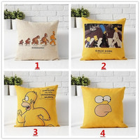 18 Inches Cartoon The Simpsons Cotton Linen Square Pillow Cases Throw pillow Cushion Cover