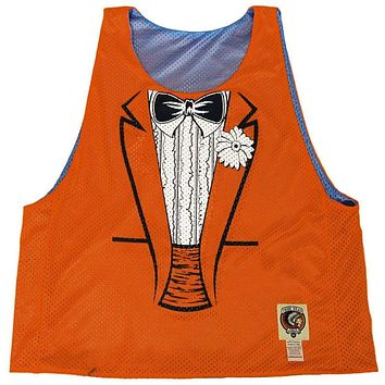 Dumb and Dumber Tuxedo Sublimated Reversible Lacrosse Pinnie