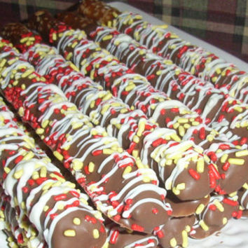 Gourmet Chocolate Covered Pretzel Rods